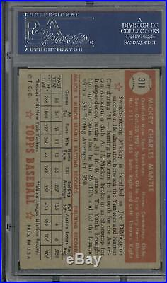 1952 Topps #311 Mickey Mantle Very High End PSA 4