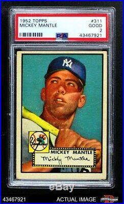 1952 Topps #311 Mickey Mantle Yankees PSA 2 GOOD