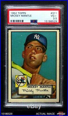 1952 Topps #311 Mickey Mantle Yankees PSA 3.5 VG+
