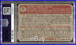 1952 Topps Baseball #311 Mickey Mantle Rookie Rc Psa Authentic Centered Hof 6477