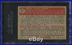 1952 Topps Baseball #311 Mickey Mantle SGC 35 (GOOD+ 2.5)