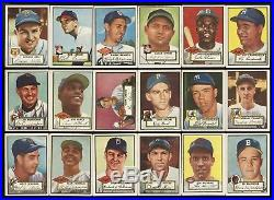 1952 Topps Baseball Cards Complete Set (407) With #311 Mickey Mantle Ksa 5