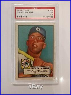 1952 Topps Baseball Mickey Mantle #311 PSA 1.5 Fair RC Rookie