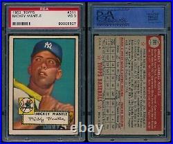 1952 Topps Baseball Mickey Mantle ROOKIE RC Card # 311 PSA 3 ORIGINAL FAMILY