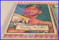 1952 Topps Christmas Rack Pack Mickey Mantle Warren Spahn On Top Rizzuto On Back