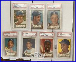 1952 Topps Complete Set Low & High All Psa Graded 1-407 Mantle Mays Mathews