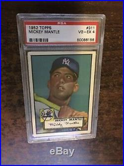 1952 Topps MICKEY MANTLE Rookie New York Yankees PSA 4 WELL CENTERED