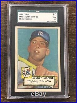 1952 Topps MICKEY MANTLE Rookie New York Yankees SGC 5.5 #311