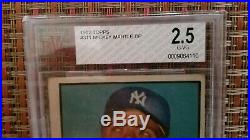 1952 Topps Mickey Mantle #311 BECKETT 2.5 G-VG. A VINTAGE BEAUTY