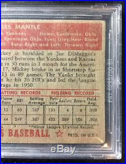 1952 Topps Mickey Mantle #311 DP BVG Beckett Authentic Holy Grail