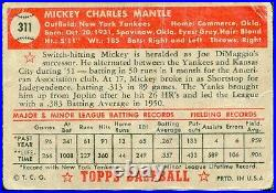 1952 Topps Mickey Mantle #311 PSA 1 HOLY GRAIL 27242147