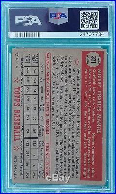 1952 Topps Mickey Mantle #311 PSA 2 HOF Centered