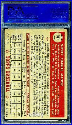 1952 Topps Mickey Mantle #311 PSA 4