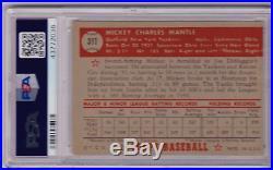 1952 Topps Mickey Mantle #311 PSA 4 P625