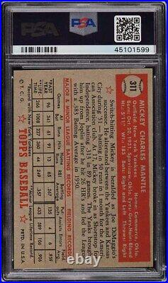 1952 Topps Mickey Mantle #311 PSA 7.5 NRMT+