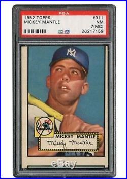1952 Topps Mickey Mantle #311 PSA 7 NM (mc)