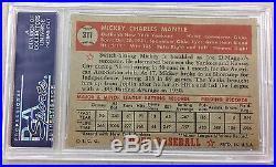 1952 Topps Mickey Mantle # 311 PSA 8 OC