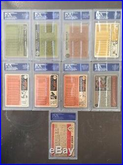 1952 Topps Mickey Mantle #311 Rookie Card + Collection of PSA Graded Cards
