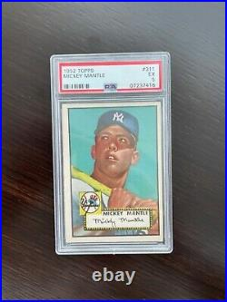 1952 Topps Mickey Mantle # 311 Rookie RC Graded PSA 5 EX+++ Undergraded