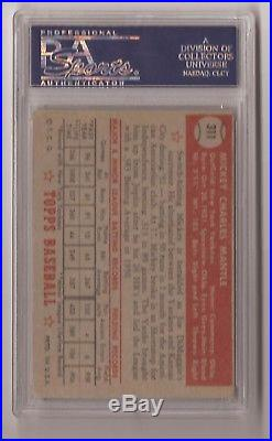 1952 Topps Mickey Mantle PSA 2.5 GOOD Rookie #311 Investment Grade! Yankees