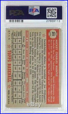 1952 Topps Mickey Mantle PSA 5, read the description to learn more