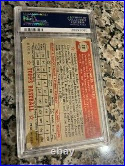 1952 Topps Mickey Mantle PSA graded authentic