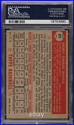 1952 Topps Mickey Mantle ROOKIE RC #311 PSA 4 VGEX