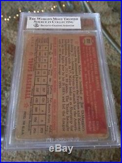 1952 Topps Mickey Mantle Rookie # 311 BVG 1.5 New York Yankees