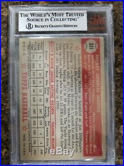 1952 Topps Mickey Mantle Rookie #311 BVG 2.5