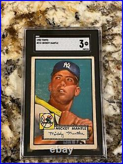 1952 Topps Mickey Mantle Rookie #311 Sgc 3 Centered The Holy Grail Of Collecting