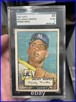 1952 Topps Mickey Mantle Rookie Card 311 SGC 2. Not PSA BVG DEAD CENTERED