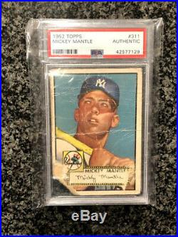 1952 Topps Mickey Mantle Rookie PSA Authentic NEW SLAB New York Yankees The Mick