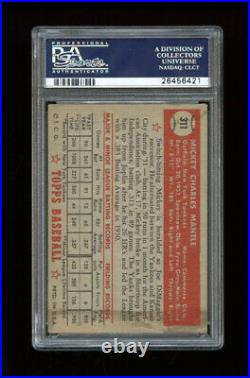 1952 Topps Set Break #311 Mickey Mantle PSA 2.5 GOOD+