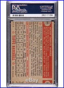 1952 topps Mickey Mantle #311 PSA NM 7 MC RARE MC in NM Condition Type 1
