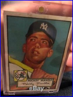 1952 topps mickey mantle 311