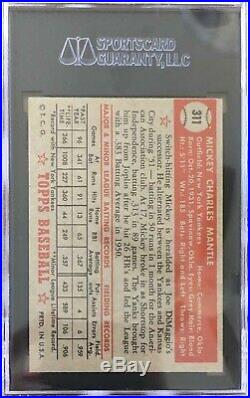 1952 topps mickey mantle Rookie SGC 7.0 Gorgeous Example Stunning Centering