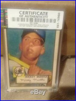 1952 topps mickey mantle rookie ca