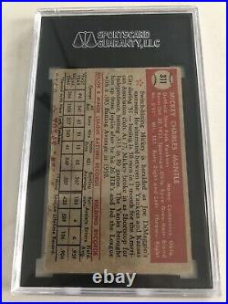 1952 topps mickey mantle rookie card 311 Sgc Authentic