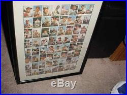 1953 BOWMAN baseball card UNCUT SHEET prof matted FRAMED topps MICKEY MANTLE