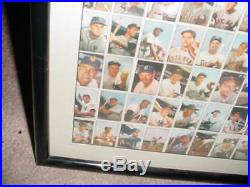1953 BOWMAN baseball card UNCUT SHEET prof matted FRAMED topps MICKEY MANTLE