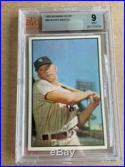 1953 Bowman Color MICKEY MANTLE New York Yankees BGS BVG PSA 9