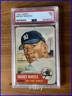 1953 TOPPS #82 MICKEY MANTLE PSA 1 SHORT PRINT! 2nd year NY YANKEE GREAT HOF