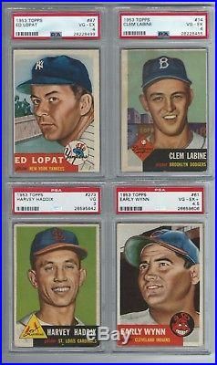1953 TOPPS BB COMPLETE SET (274) VG/EX (51) PSA (Mantle 4.5) OPEN TO OFFER