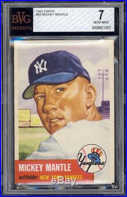 1953 Topps #82 Mickey Mantle BVG 7+ Well centered with NM-MT corners