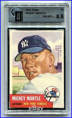 1953 Topps #82 Mickey Mantle Gai 8.5 Nm-mt+ (high End Beautiful)
