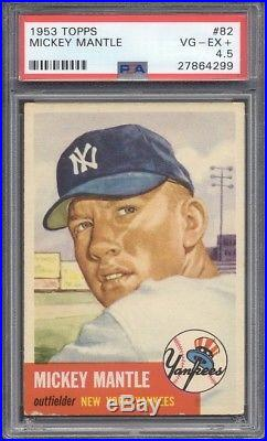 1953 Topps #82 Mickey Mantle PSA 4.5