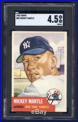 1953 Topps #82 Mickey Mantle SGC 4.5