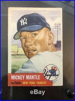 1953 Topps #82 Mickey Mantle Ungraded Ex New York Yankees Hof