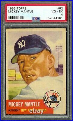 1953 Topps Baseball #82 Mickey Mantle PSA 4