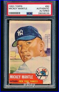 1953 Topps MICKEY MANTLE #82 PSA A